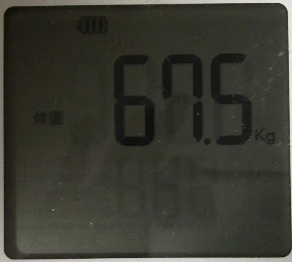 5月7日の体重計の画像