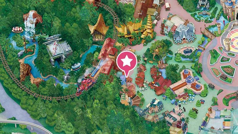 アドベンチャーランド・バザールの地図