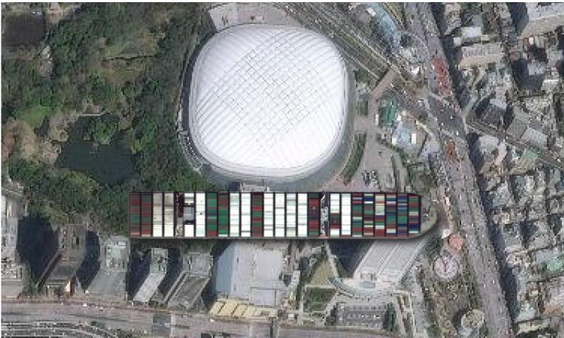 東京ドームと比較してみた画像